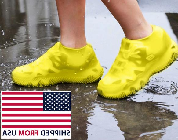 silicone overshoes rain waterproof shoe covers protector