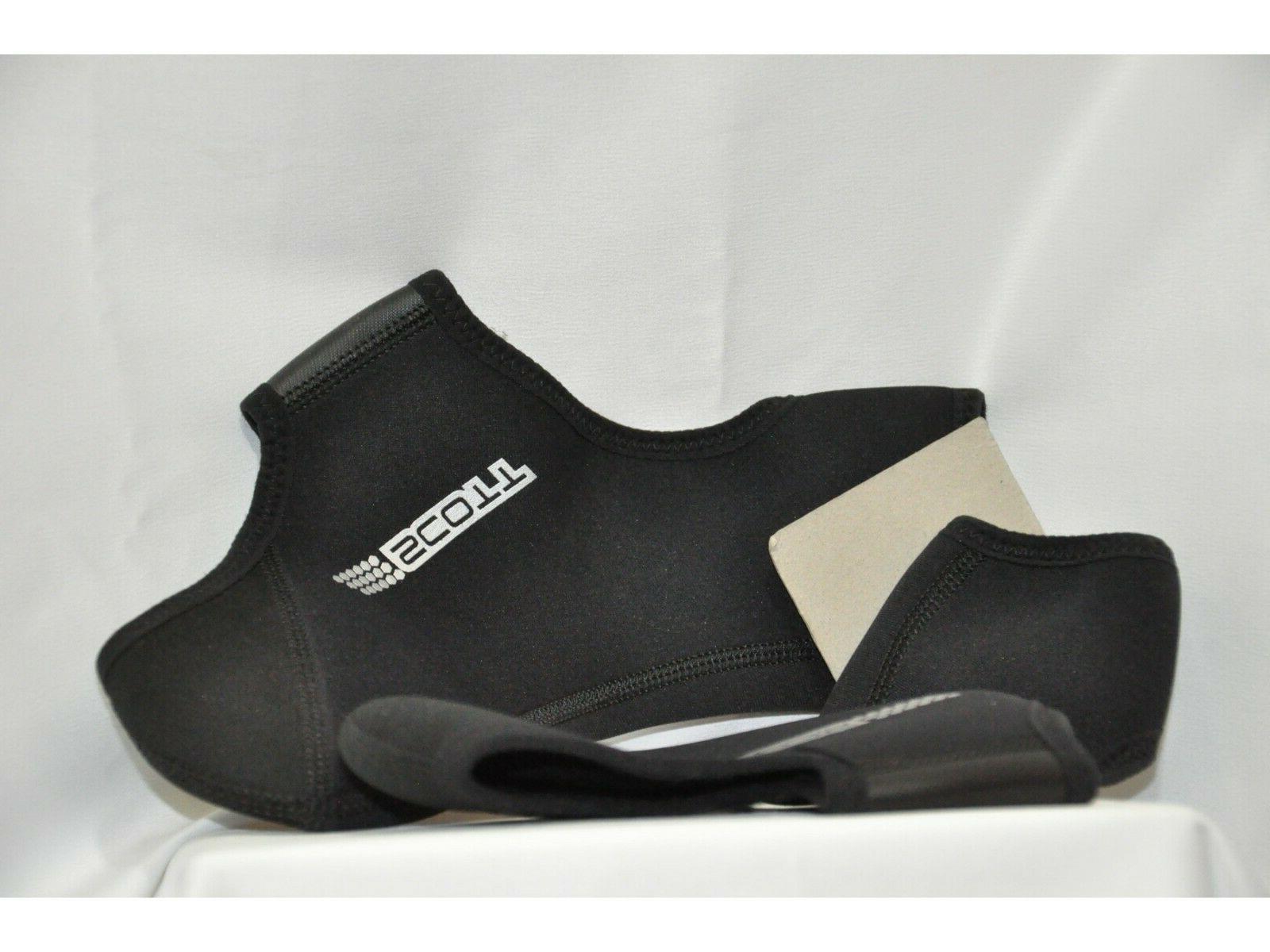 sports bicycle winter leg shoe covers black