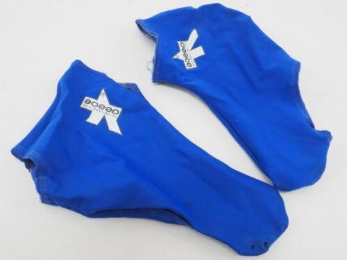 unisex cycling shoe covers one size blue