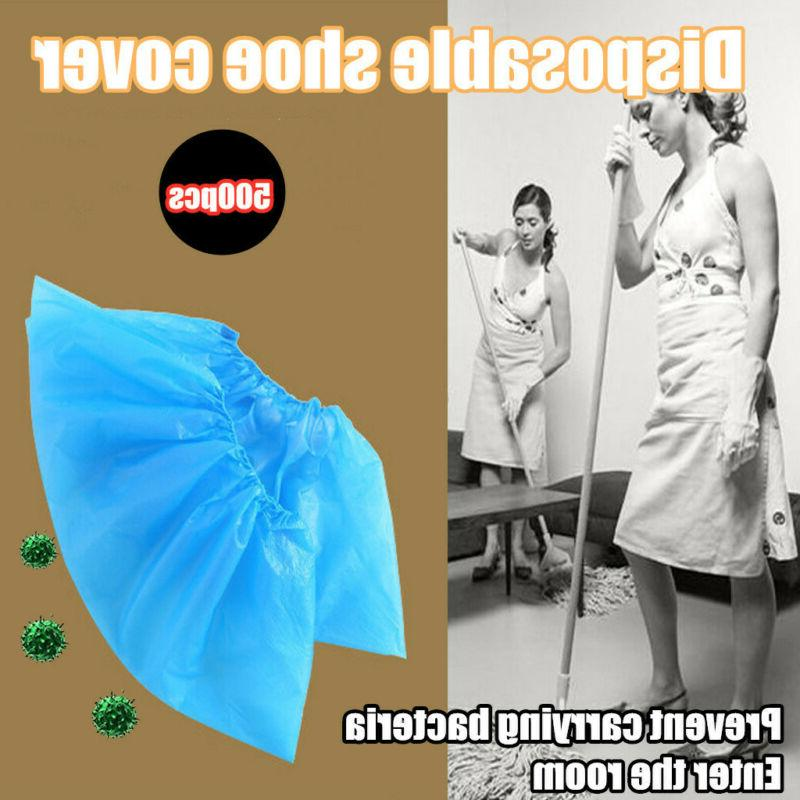 500PCS Disposable Shoe Covers Nonskid Booties Overshoes Cove