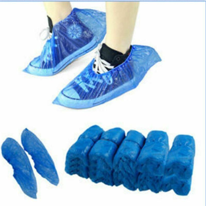 100/200/400x Waterproof Boot Covers Plastic Disposable Shoe