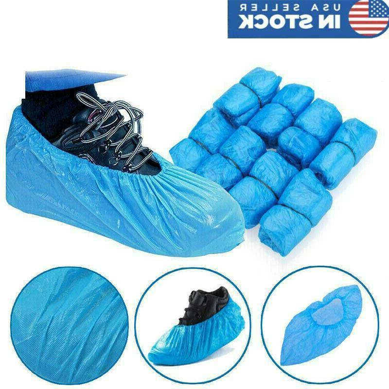us 100x disposable plastic shoe covers cleaning