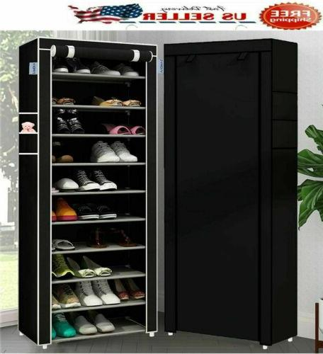 USA 10 Tier Pairs Tower Cabinet Storage Shelf