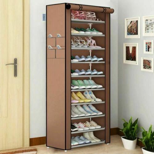 USA Pairs Shoe Rack Tower Cabinet with Storage Shelf