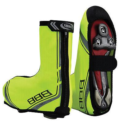waterflex waterproof cycling commuter shoe covers neon