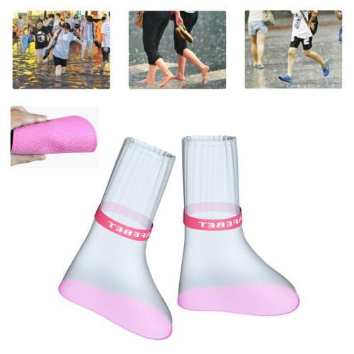 Pair Waterproof Rain Shoes Boots Covers Overshoes Men Women
