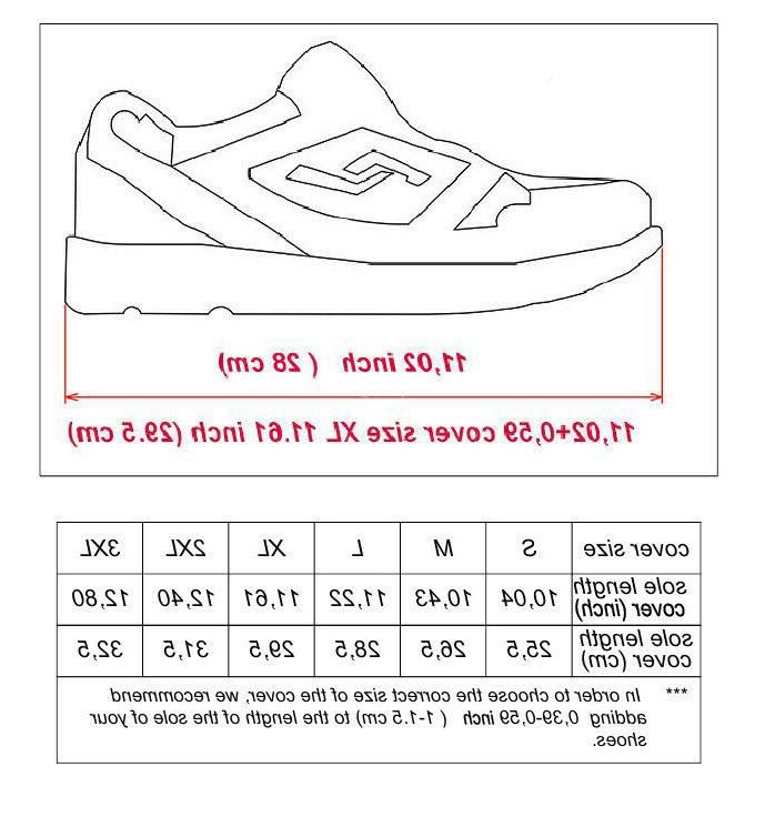Waterproof Shoe Rain Coats Reusable Non Slip Zip Rain