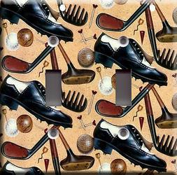 Light Switch Plate Cover - Golf accessory - Sport ball shoes