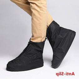 Men's Unisex Reusable Black Rain Boots Waterproof Anti-slip