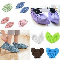 Men Women Non-woven Outdoor Shoe Covers Non-slip Washable Ca