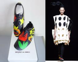 ** COMME DES GARCONS ** New in Box!  Runway Hand Painted Lea