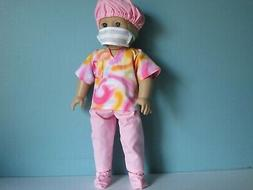 PINK DOCTOR or NURSE SCRUB SET fits American Girl includes C