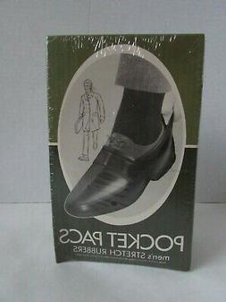 Vintage Pocket Pacs Men's Stretch Rubber Shoe Covers Boots L