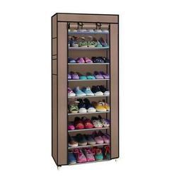 Portable 10 Tier Shoe Rack Shelves Storage Closet Home Holde