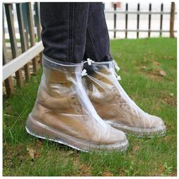 Rain Boot Waterproof Shoes Cover Women Men Kids Reusable Pvc