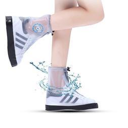 Reusable PVC Fashion Waterproof Rain Shoe Covers for Men Wom