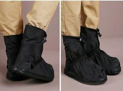 Reusable Rain Shoe Covers Bike Waterproof Zipper Overshoes B