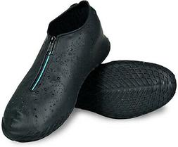 LEGELITE Reusable Silicone Waterproof Shoe Covers with Zippe