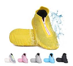 Reusable Silicone Waterproof Silicone Shoe Covers with Zippe