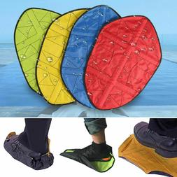 reusable step in sock hands free shoe