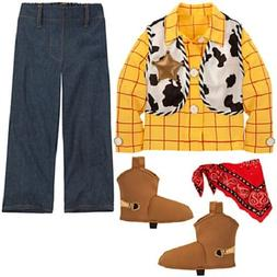Sheriff~WOODY~COSTUME~Shirt+Pant+Vest+Shoe Covers~7/8~Toy St