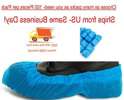 Shoe Covers- Disposable- Blue- Universal- Fast Shipping