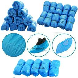 Shoe Covers Plastic Waterproof Disposable Blue Shoe Covers O