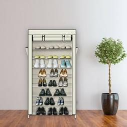 Shoe Rack with Dustproof Cover Closet Shoe Storage Cabinet O