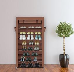 Zimtown Shoe Rack with Dustproof Cover Storage Closet, Holds