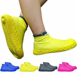 2x Silicone Waterproof Shoe Cover Outdoor Rainproof Skid-pro