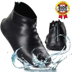 OneBom Silicone Shoe Covers Waterproof, New Version with Zip