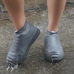Silicone Shoes Covers Non-slip Overshoes Reusable Waterproof