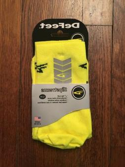 Defeet Slipstream shoe covers S/ M  yellow, made with Cordur