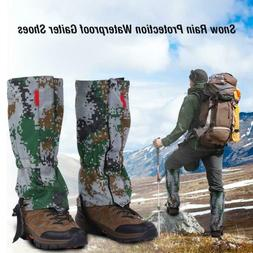 Snow Rain Protection Waterproof Gaiters Shoes Covers for Hik