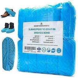 Strongman Tools | 120 Pack  Extra Thick Disposable Shoe  Boo