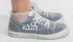 Sz L Reusable Clear Shoe Covers Waterproof Silicone Rain Sho