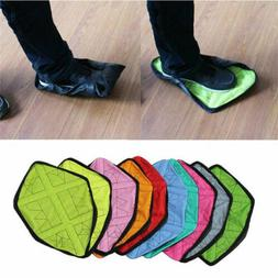 US 1 Pair Handsfree Automatic Step Sock Shoe Cover Reusable