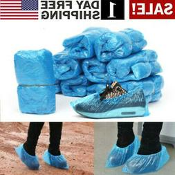 US 100 Pc Disposable Plastic Shoe Covers Cleaning Overshoes