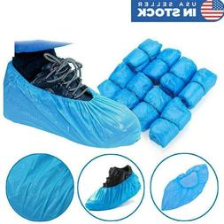 US 100X Disposable Plastic Shoe Covers Cleaning Overshoes Pr