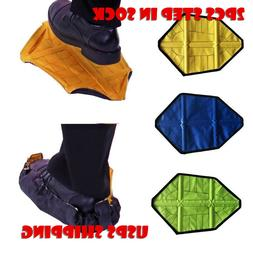 US! 2PCS  Automatic Sock  Step in Sock Reusable One Step Han