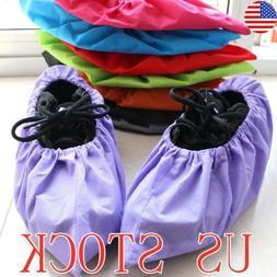 US STOCK 5Pairs Non-woven Shoe Cover Anti-static Non-slip Wa