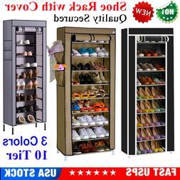 usa 10 tier 27 pairs shoe rack