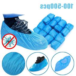USA 100-500x Disposable Shoe Boots Covers Plastic Waterproof
