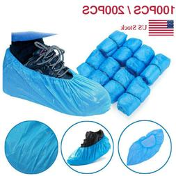 100-200pcs Waterproof Boot Covers Disposable Plastic Shoe Co
