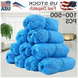 Waterproof Boot Shoe Covers Plastic Disposable Cleaning Over