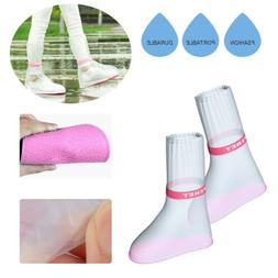 Waterproof Rain Shoes Boots Covers Overshoes Travel Men Wome