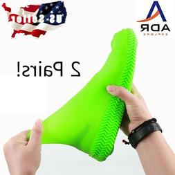 2pair- Waterproof silicone shoe covers for Women, & Kids no