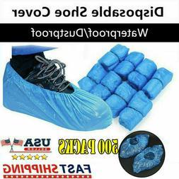Women Men Disposable Shoe Covers Plastic Overshoes Floor Boo