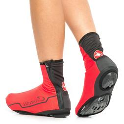 Women's Castelli Troppo Cycling Shoe Covers Red/Black/Black